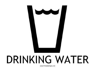 Drinking Water with caption Sign