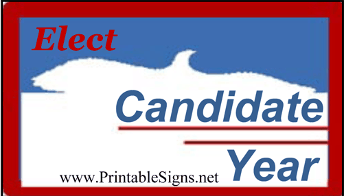 Eagle Election Sign Palm Cards Sign