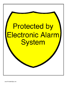Electronic Alarm Sign
