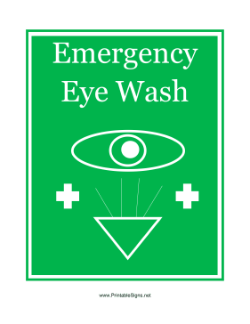 Emergency Eye Wash Graphic Sign