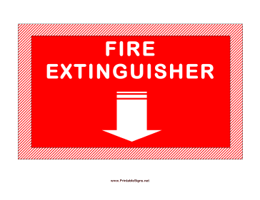 picture regarding Printable Fire Extinguisher Sign titled Printable Fireplace Extinguisher Indicator