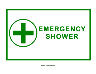 Shower Cross Sign