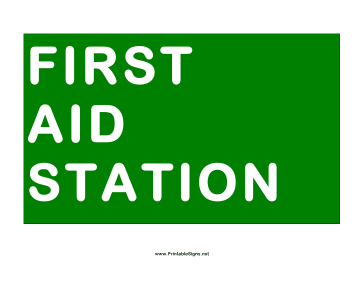 Station First Aid Sign