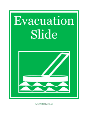 Evacuation Slide Sign