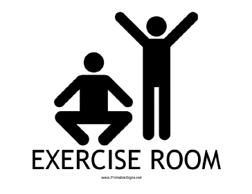 Exercise Room with caption Sign