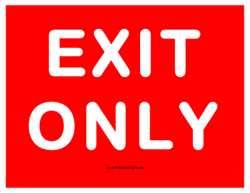 photo relating to Printable Exit Signs named Printable Exit Just Indication