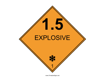 Explosive One Pt Five Sign