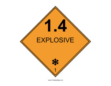 Explosive One Pt Four Sign