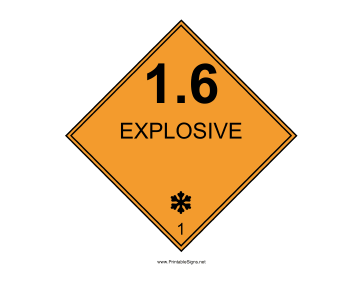 Explosive One Pt Six Sign