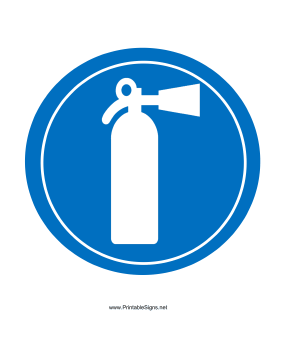 Extinguisher Must Be Carried Sign