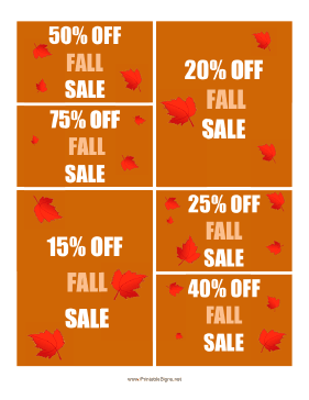 Fall Sales Sign