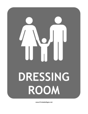 Family Dressing Room Sign