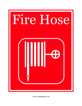 Fire Hose Graphic Sign