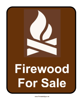 firewood for sale sign sign