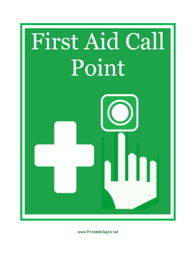 First Aid Call Point Sign