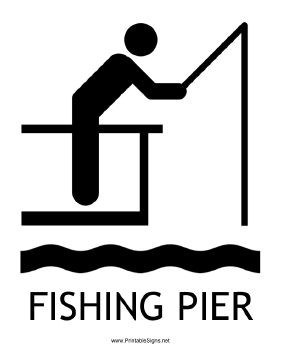 Fishing Pier with caption Sign