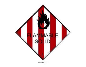 Flammable Solid Sign