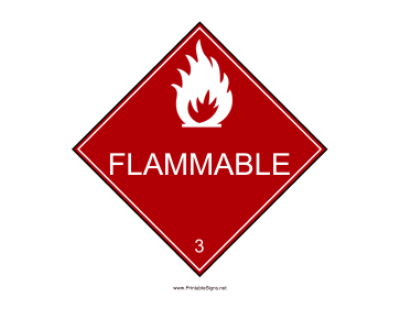 Flammable Warning Sign Sign