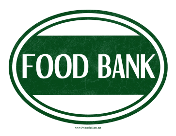 Food Bank Sign Sign