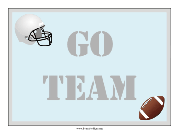 Football Lawn Sign Sign