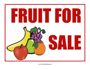 Fruit Sign