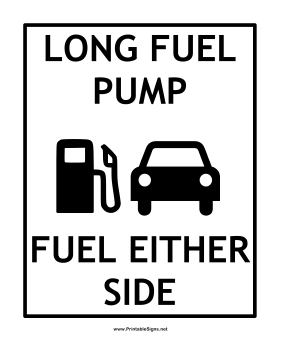 Fuel Either Side Sign
