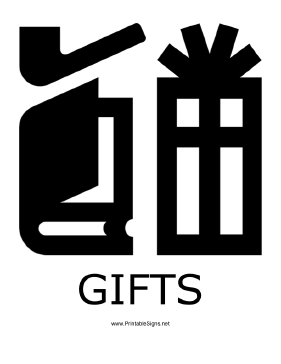 Gifts with caption Sign