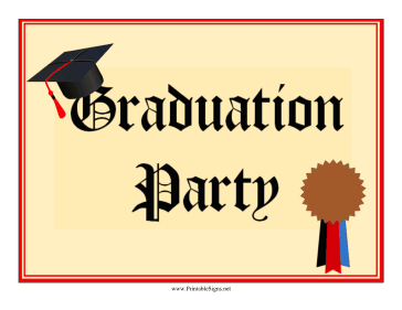 Graduation Party Lawn Sign Sign