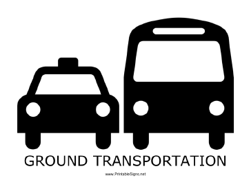 Ground Transportation with caption Sign