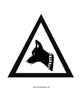 Guard Dog Sign