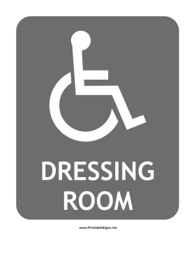 Handicap Dressing Room Sign