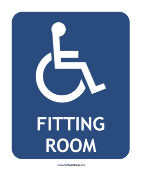 Handicapped Fitting Room Sign