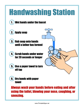 Enterprising image intended for free printable hand washing signs