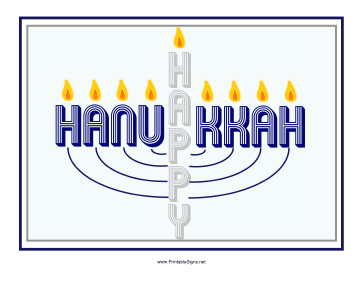 Hanukkah Menorah Sign Sign