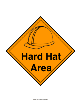 Hard Hat Area Sign Sign