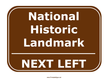 Historic Landmark Left Sign