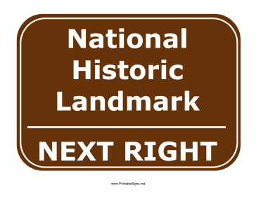 Historic Landmark Right Sign