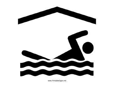 Indoor Swimming Sign