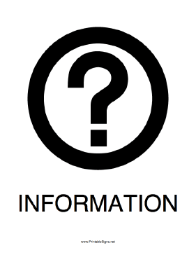 Information Question Mark Sign