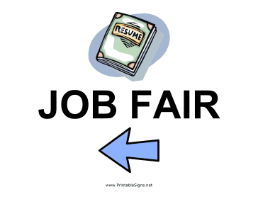 Job Fair - Left Sign