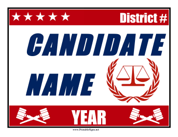 Judge Campaign Sign Sign