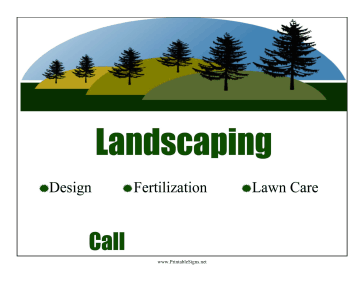 Landscaping Lawn Sign Sign