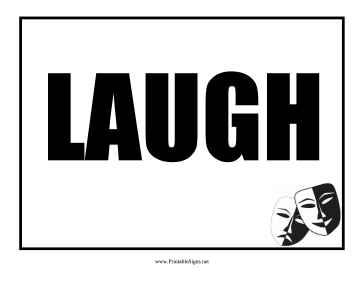 Laugh Sign Sign