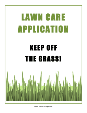 Lawn Care Application Sign