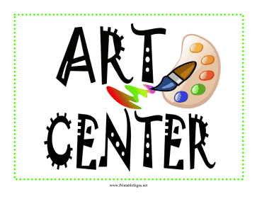 Learning Center Art Sign