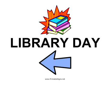 Library Day - Left Sign