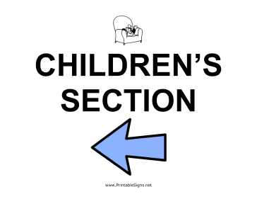 Childrens Section - Left Sign