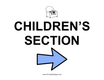 Childrens Section - Right Sign