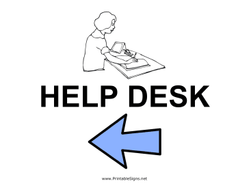 Help Desk - Left Sign