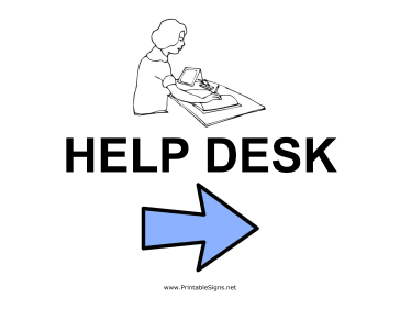 Help Desk - Right Sign